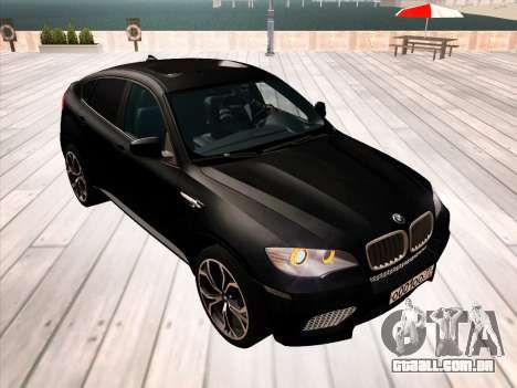 BMW X6M 2010 para as rodas de GTA San Andreas