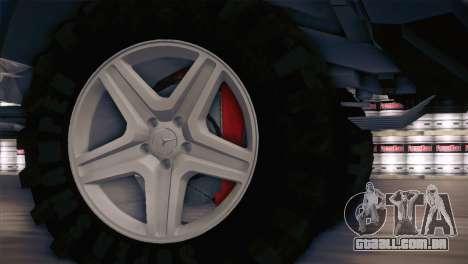 Mercedes-Benz G63 AMG 6X6 para GTA San Andreas vista traseira