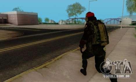 Kopassus Skin 1 para GTA San Andreas twelth tela