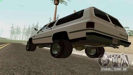 Chevrolet Suburban 2500 1986 para GTA San Andreas vista direita