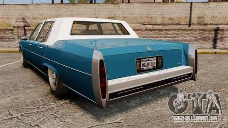 Emperor New Wheel para GTA 4 traseira esquerda vista