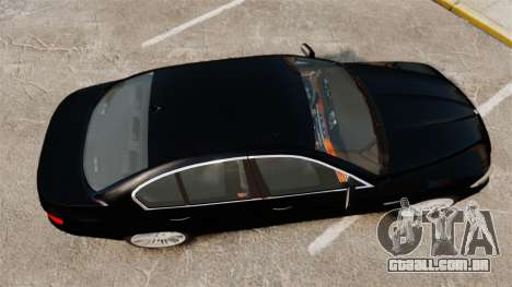 BMW M5 F10 2012 Japanese Unmarked Police [ELS] para GTA 4 vista direita