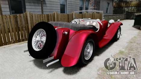 Jaguar SS100 para GTA 4 traseira esquerda vista