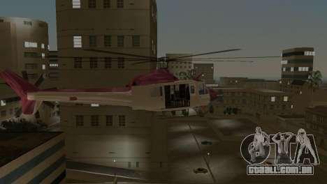 Bell HH-1D para GTA Vice City vista traseira