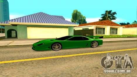 Novo Turismo para GTA San Andreas esquerda vista