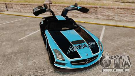 Mercedes-Benz SLS 2014 AMG Black Series Area 27 para GTA 4 vista superior