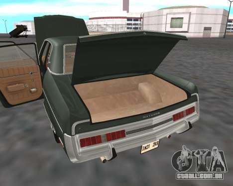 AMC Matador 1972 para GTA San Andreas vista inferior