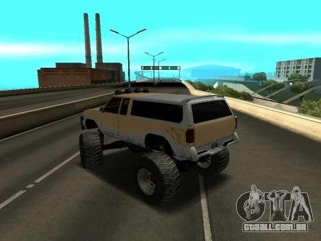 Novo Monstro para GTA San Andreas traseira esquerda vista