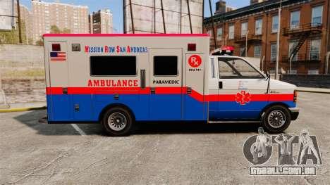 Brute MRSA Paramedic para GTA 4 esquerda vista
