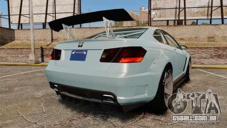 GTA V Benefactor Schwartzer para GTA 4 traseira esquerda vista