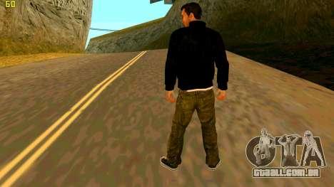 A nova textura Claude para GTA San Andreas segunda tela