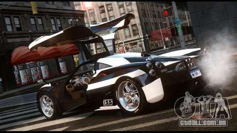 Pagani Huayra Police v1.1 para GTA 4 esquerda vista
