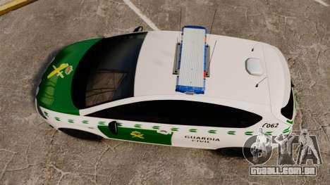 Seat Cupra Guardia Civil [ELS] para GTA 4 vista direita