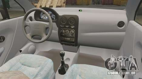 Daewoo Matiz SE 1998 para GTA 4 vista de volta