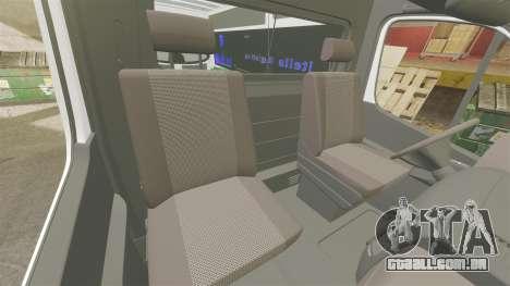 Mercedes-Benz Sprinter Itella Logistics para GTA 4 vista interior