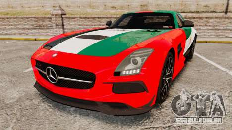 Mercedes-Benz SLS 2014 AMG UAE Theme para GTA 4