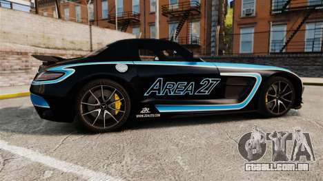 Mercedes-Benz SLS 2014 AMG Black Series Area 27 para GTA 4 esquerda vista
