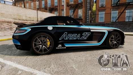 Mercedes-Benz SLS 2014 AMG Black Series Area 27 para GTA 4 esquerda vista