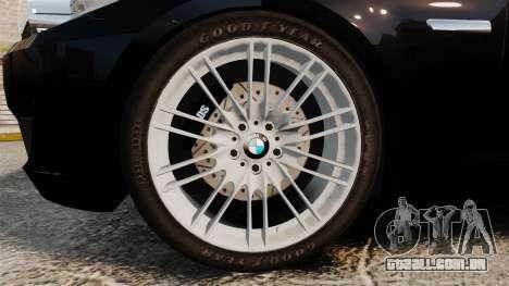 BMW M5 F10 2012 Japanese Unmarked Police [ELS] para GTA 4 vista de volta