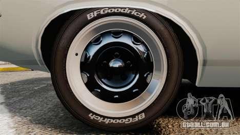 Dodge Challenger 1971 Vanishing Point para GTA 4 vista de volta