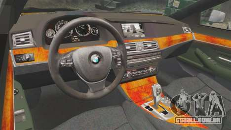 BMW M5 F10 2012 Japanese Unmarked Police [ELS] para GTA 4 vista interior