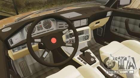 BMW 535is E28 Sharkie para GTA 4 vista lateral