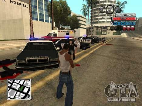 O novo C-HUD para GTA San Andreas quinto tela