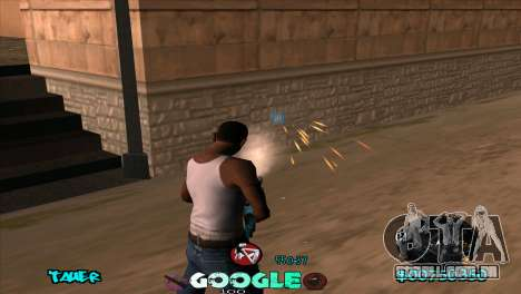 C-HUD Google para GTA San Andreas por diante tela