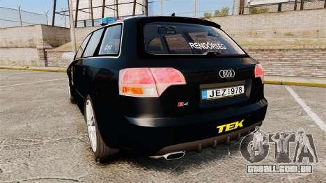 Audi S4 Avant TEK [ELS] para GTA 4 traseira esquerda vista