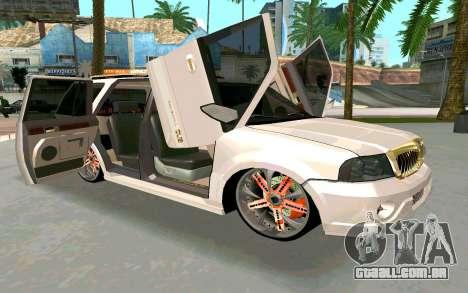 Lincoln Navigator DUB Edition para GTA San Andreas vista direita