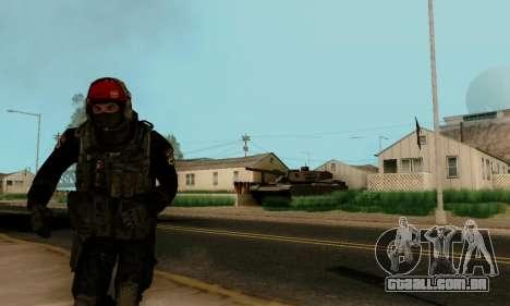 Kopassus Skin 1 para GTA San Andreas por diante tela