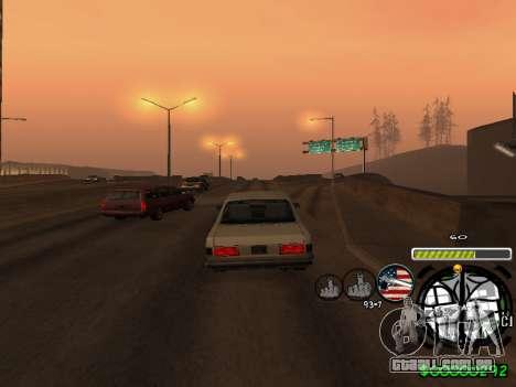 C-HUD Andy Cardozo para GTA San Andreas sexta tela