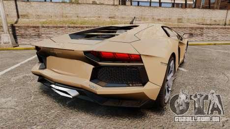 Lamborghini Aventador LP700-4 2012 [EPM] para GTA 4 traseira esquerda vista