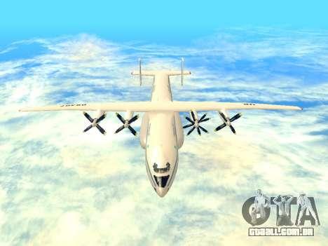 An-22 Antei para GTA San Andreas vista interior