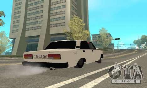 VAZ 2107 Avtosh para GTA San Andreas vista traseira