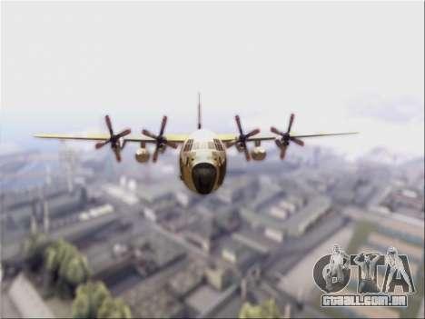 C-130 Hercules Royal Moroccan Air Force para GTA San Andreas esquerda vista