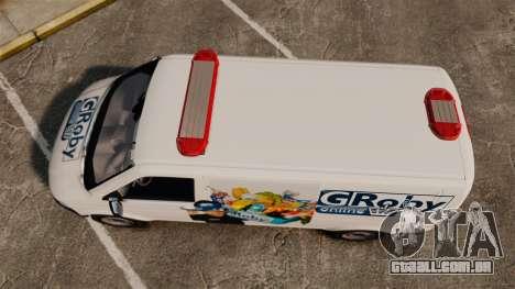 Volkswagen Transporter T5 Groby Netshop [ELS] para GTA 4 vista direita