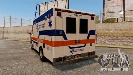 Brute CHMC Ambulance para GTA 4 traseira esquerda vista