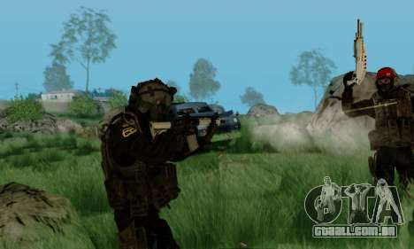 Kopassus Skin 3 para GTA San Andreas sexta tela