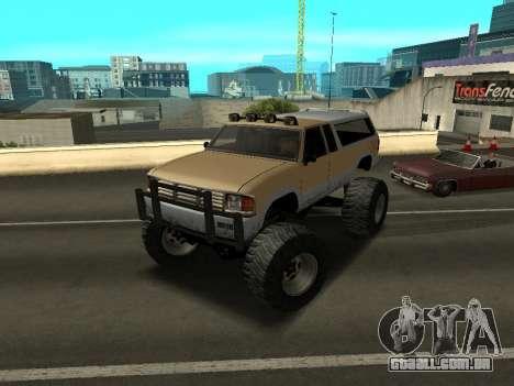 Novo Monstro para GTA San Andreas esquerda vista