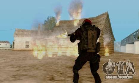 Kopassus Skin 1 para GTA San Andreas oitavo tela