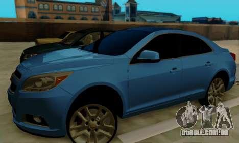 Chevrolet Malibu para GTA San Andreas traseira esquerda vista
