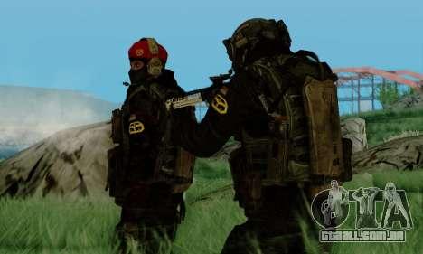 Kopassus Skin 3 para GTA San Andreas quinto tela