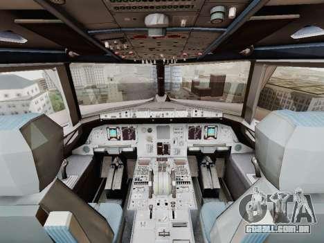 Airbus A320-211 China Eastern para GTA San Andreas vista superior