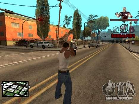 C-HUD homem de Ferro para GTA San Andreas por diante tela