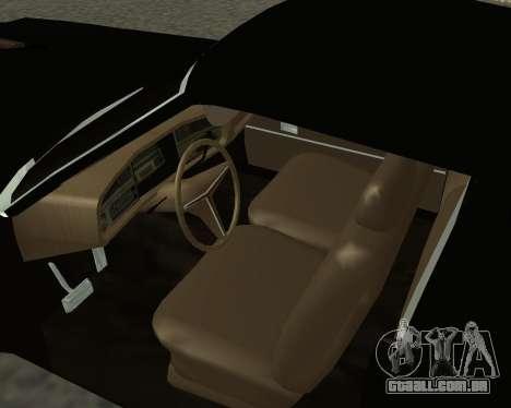 Buick Riviera 1972  Classic para GTA San Andreas traseira esquerda vista