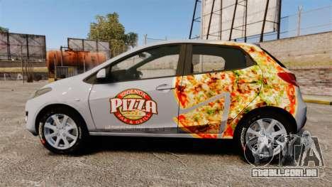 Mazda 2 Pizza Delivery 2011 para GTA 4 esquerda vista