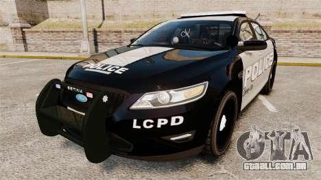 Ford Taurus LCPD Interceptor 2011 [ELS] para GTA 4