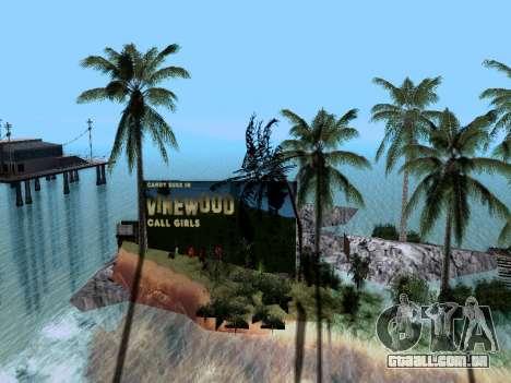 Nova ilha v1.0 para GTA San Andreas por diante tela