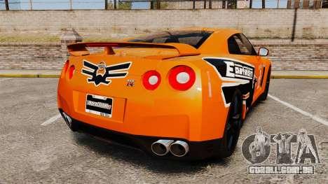 Nissan GT-R 2012 Black Edition NFS Underground para GTA 4 traseira esquerda vista